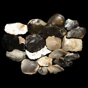 Stone Age Flint Scraper Group