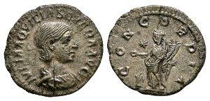 Roman Imperial Coins - Aquilia Severa - Concordia Denarius