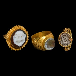 Vintage Greek Style Gold Ring Group