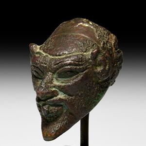 Archaic Satyr Head Protome