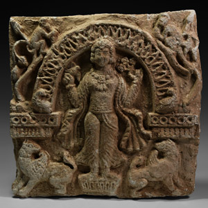 Western Asiatic Sassanian Tile with Queen
