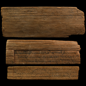 Inscribed Wooden Tablet Group