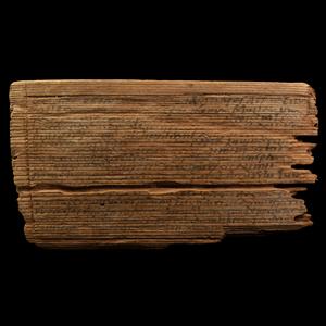 Inscribed Wooden Tablet