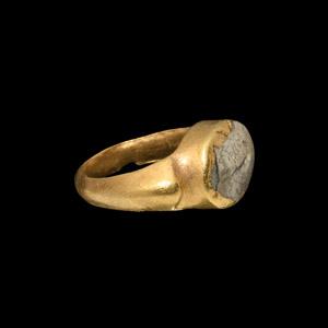 Gold Ring with Scorpion Gemstone