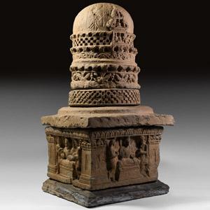 Gandharan Five-Section Stupa