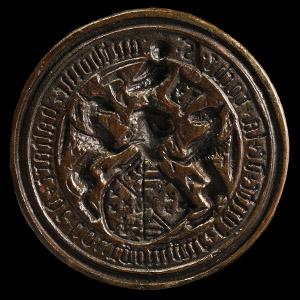 Medieval Antoine the Bastard of Burgundy Armorial Seal Matrix