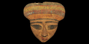 Egyptian Wooden Female Sarcophagus Mask