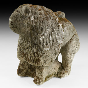 Large Medieval Guardian Lion Statue