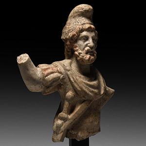 Marble Jupiter Dolichenus Statuette