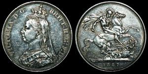 English Milled Victoria - 1887 - Crown