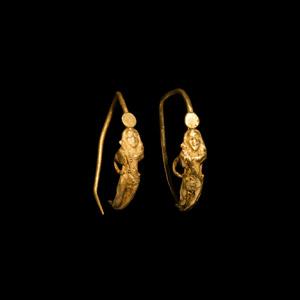 Gold Eros Earrings