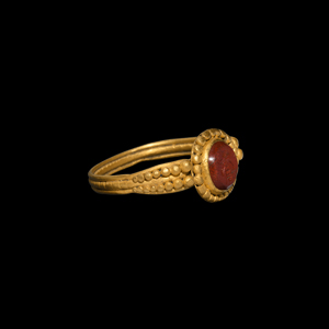 Gold Ring with Fly Gemstone