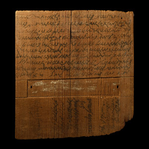 Roman Contract for Sale of Land on Wooden Tablet Witnessed by Iulius Aequirius