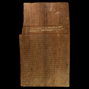 Inked Wooden Sales Contract Tablet for Land Bought by a Pomponius Valerianus