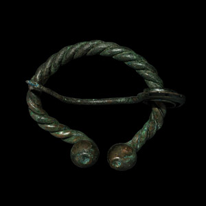 Penannular Brooch with Zoomorphic Pin