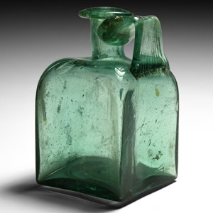 Glass Handled Square Bottle