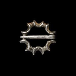 Silver Ring Brooch
