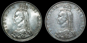 English Milled Victoria - 1887 - Florins [2]