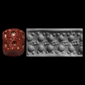 Western Asiatic Jemdet Nasr Cylinder Seal with Pots