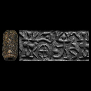 Western Asiatic Cylinder Seal with Erotic Marriage Scene