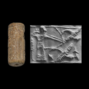 Western Asiatic Mesopotamian Cylinder Seal with Archer