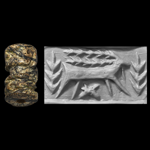 Western Asiatic Cylinder Seal with Goat