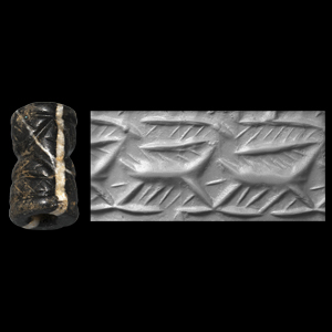 Western Asiatic Jemdet Nasr Type Cylinder Seal with Horned Animals