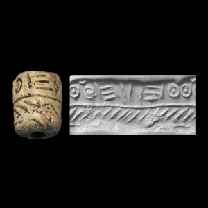 Western Asiatic Cylinder Seal with Decorative Patterns