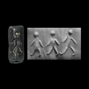 Western Asiatic Cylinder Seal with Matchstick Men