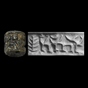 Western Asiatic Cylinder Seal with Abstract Quadrupeds