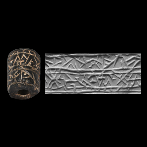 Western Asiatic Cylinder Seal with Abstract Design