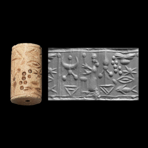 Western Asiatic Cylinder Seal with Divine Symbols