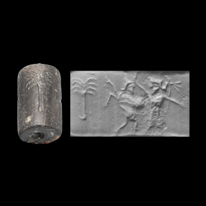 Western Asiatic Achaemenid Cylinder Seal with King and Monster
