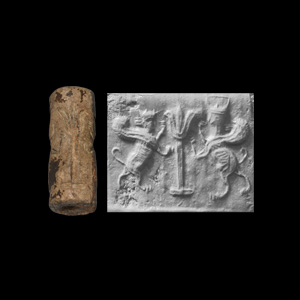 Western Asiatic Cylinder Seal with Conquered Kings
