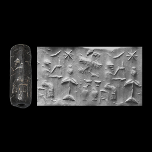 Western Asiatic Northern Mesopotamian or Anatolian Cylinder Seal with Figures