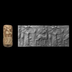 Western Asiatic Cylinder Seal with Archer