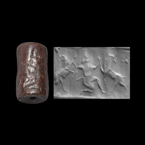 Western Asiatic Neo-Assyrian Cylinder Seal with Hero