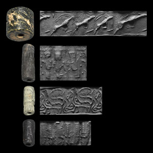 Western Asiatic Cylinder Seal Group with Rarities