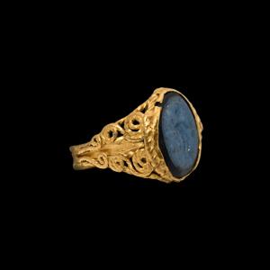 Gold Ring with Dionysus Gemstone