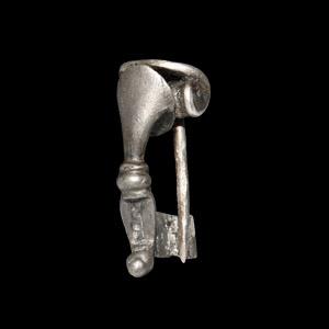 Silver Trumpet Brooch