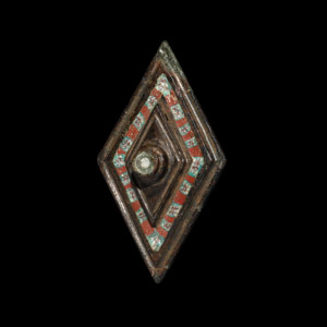Millefiori Plate Brooch