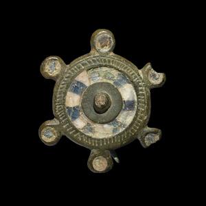 Enamelled Wheel Brooch