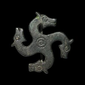 Horse-Head Whorl Brooch