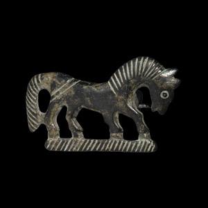 Horse Plate Brooch