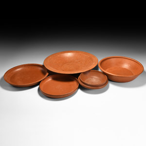 Redware Bowl Group