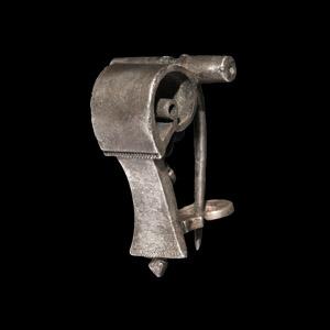 Military Silver Knee Brooch