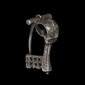 Silver Decorated Knee Brooch