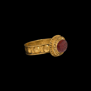 Gold Ring with MAMINO Gemstone