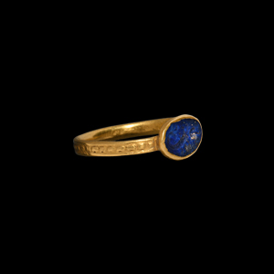 Hellenistic Gold Ring with Sea Creature Gemstone