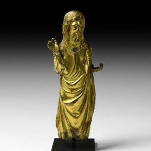 Medieval Gothic Gilt Standing Christ